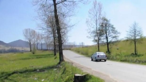 drumul unde masina urca singura
